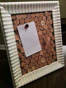 Eco-tablica na karteczki-przypominaczki. A jaka ładna :)
