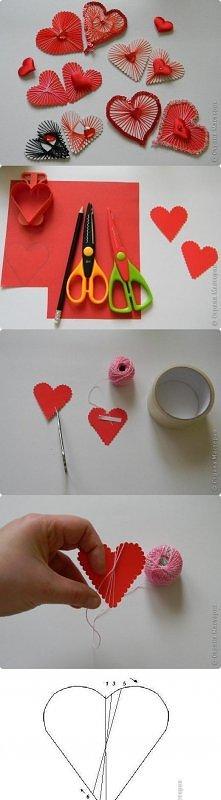 diy, diy projects, diy craft, handmade, diy ideas, diy yarn heart without needle