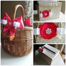 DIY ślubne: koszyk i pudełk...