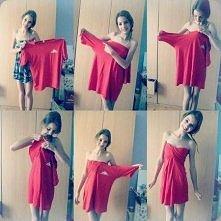 Fajny pomysł na sukienkę ze starej koszulki :DD