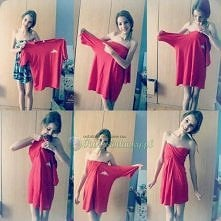 Sukienka z za dużej koszulki !! :D
