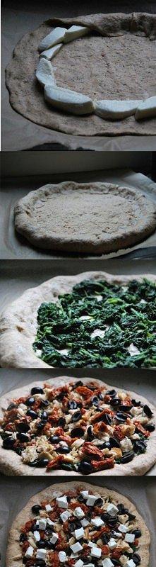 pizza śródziemnomorska razowo-orkiszowa