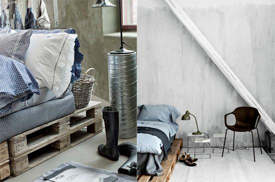 Sypialnia łóżko Z Palet Na Organizacja Zszywkapl
