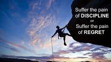Dyscyplina i wytrwałość jako stały element mojej osobowości.