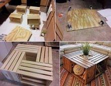 stolik z palet ;p Co można zrobić z palet? :) Wbijajcie po więcej pomysłów. <3