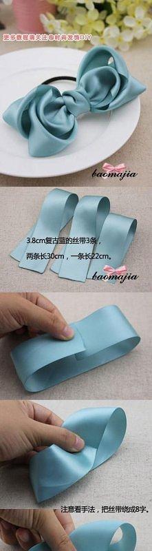 diy, layered, ribbon, bow