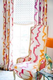 Połączenie fuksji i oranżu = super energia!!! i do tego jaki stylowy fotel <3