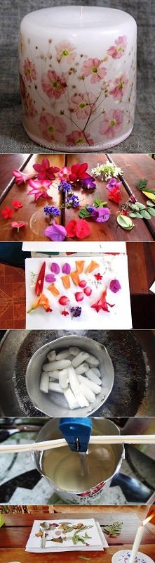 diy, flower, candle