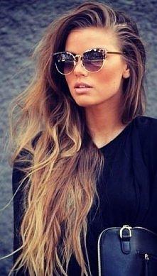 okulary + włosy