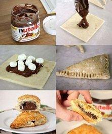 nutella + ciasto francuskie + pianki