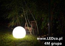 Świecąca kula ogrodowa. Prosta, elegancka, oryginalna - różne rozmiary, dostępne tylko na LEDco.pl