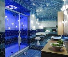 Niebieska łazienka :)