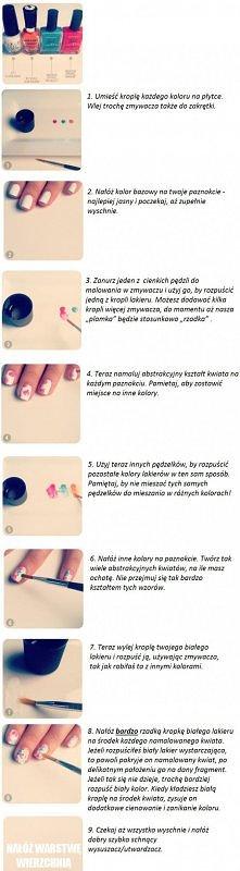 Delikatne wzorki na paznokc...