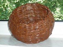 papierowa wiklina koszyk okrągły