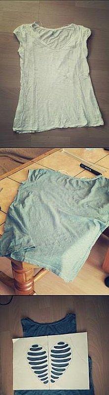 Fajny pomysł na bluzkę :)