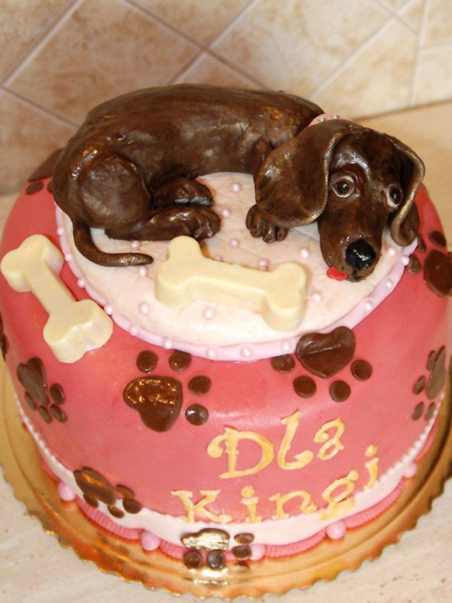 Tort Urodzinowy Dekoracja Wykonana Z Masy Cukrowej Kości Z Bi Na