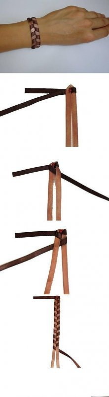 diy, quick, simple, leather, bracelet