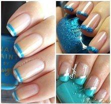 turkusowy manicure