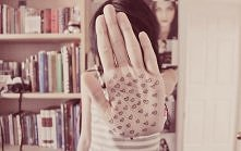 hand with hearts
