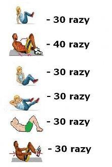 jedna seria ćwiczeń :) próbujcie dziewczyny warto ;* ♥