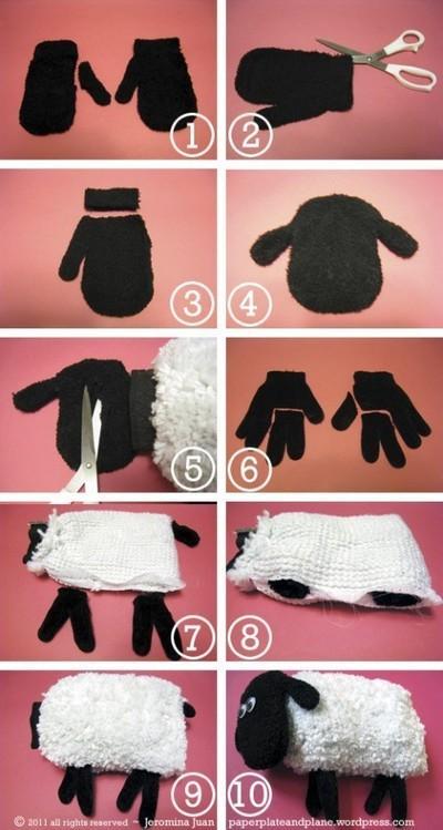 Pomysł na stare rękawiczki ;)