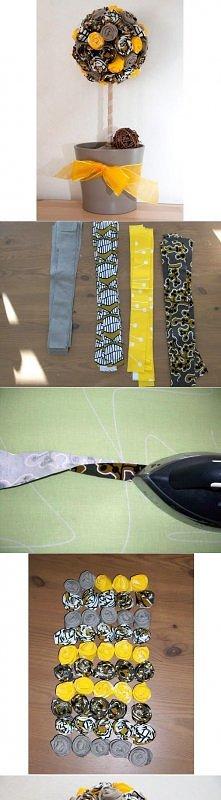 diy, simple, fabric, tree