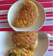 OMLET EWY CHODAKOWSKIEJ dwa jajka roztrzepać, do jajek dodać lekko rozdrobnio...