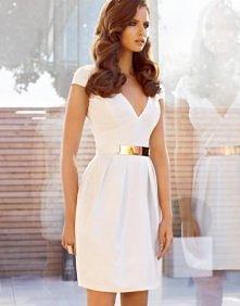 Klasyczna biała sukienka ...