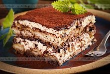 Tort z kremu tiramisu