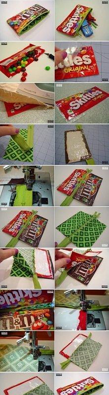 diy, candy, wrap, pencil, case