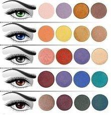 dopasuj cienie do koloru oczu