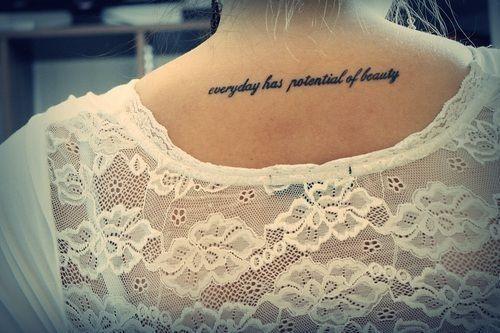 Myślęże Odpowiednie Miejsce Na Tatuaż Jakiś Fajny Tekst I