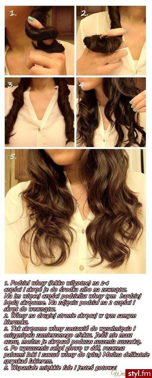 Prosty sposób na pokręcenie włosów nie niszcząc ich :)