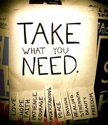 And You? What You Need? ;]