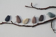kamienne ptaki