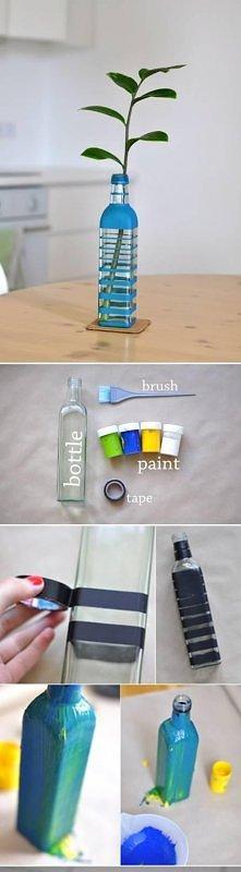 diy, painted, color, bottle...