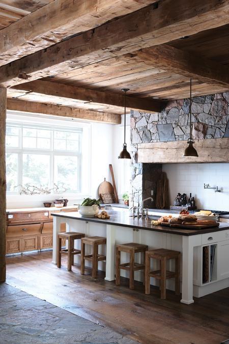 Kuchnia Idealna Do Drewnianego Domku Na Wnętrza Zszywkapl