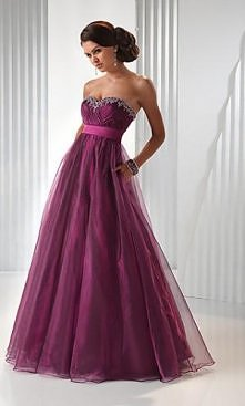 Strapless Tulle Gown,FL-P1466 Prom Dresses