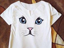 t-shirt ręcznie malowany  m...