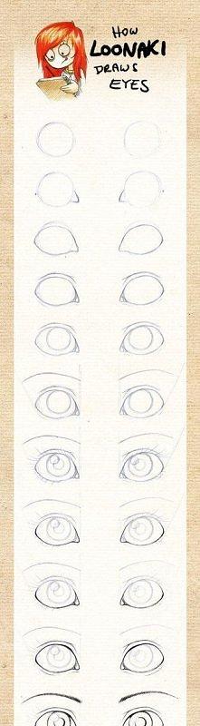 Jak narysować oczy. Piękne ...