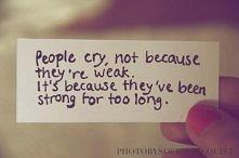 Ludzie płaczą, nie dlatego,...