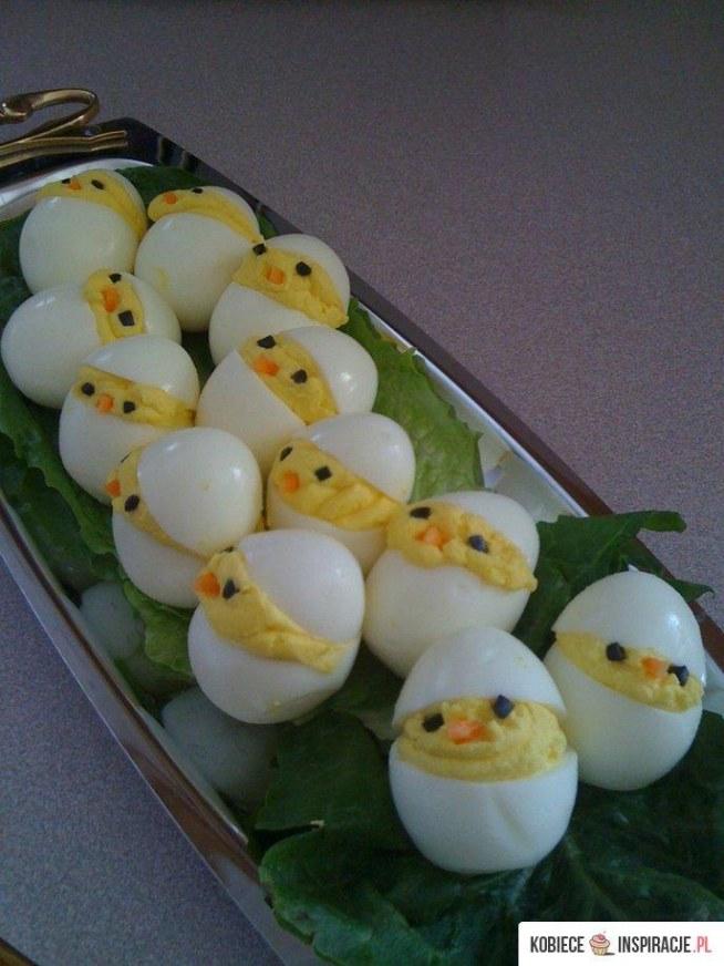 Wielkanocne kurczaczki z jajek