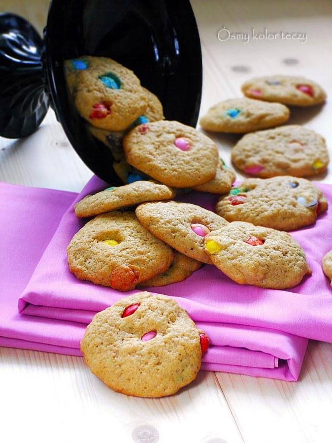 Pieguski - pyszne ciasteczka z M&M.