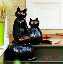 DIY - Cat o' Lanterns albo zrób to sama, koty z dyni
