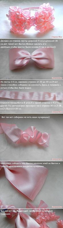 diy, pretty, pink, bow, tut...