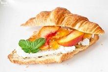 Peach and ricotta croissant