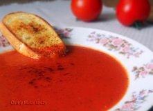 zupa z pomidorow i pieczone...