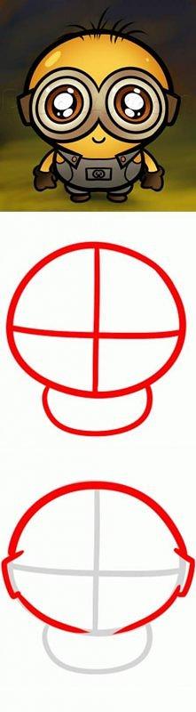 draw, chibi, minion, tutorial