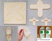Domowej roboty pantofle :)