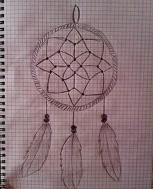 Łapacz snów, dreamcatcher, rysunek, drawing